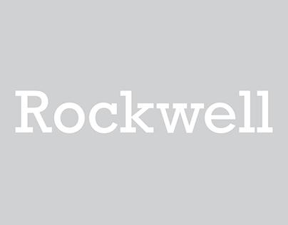 Type Specimen Sheet: Rockwell