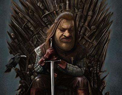 Caricatura de Eddard Stark