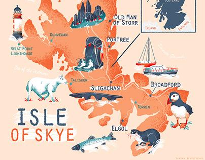 Isle of Skye Map Illustration