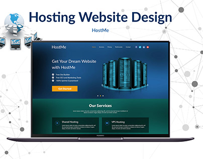 Web Hosting Site | UI/UX Design | Web Design & Dev.