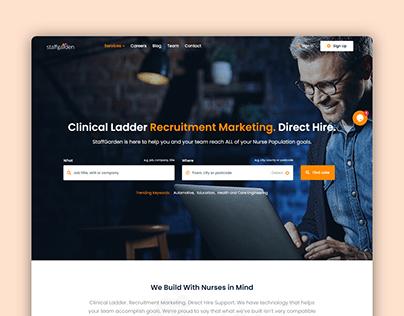 Staffgarden Landing page UI Design