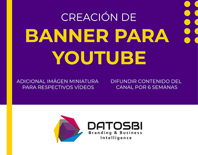 DATOSBI Creación de banner para Youtube