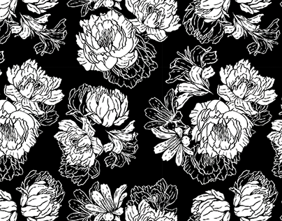 B&W Floral Pattern