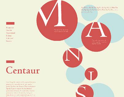 Serif Font Poster Design