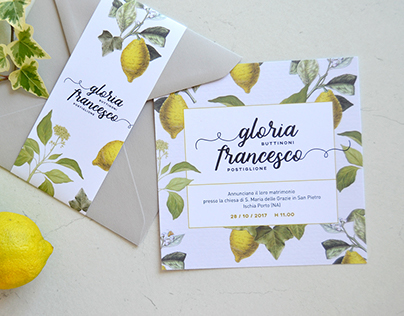 Gloria & Francesco   Wedding invitation