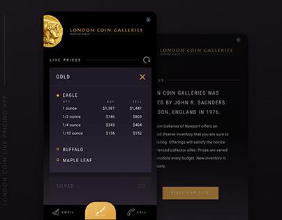 London Coin Mobile App Design