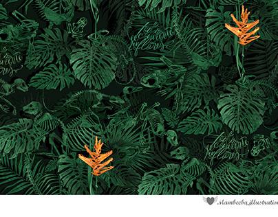"""Fabric pattern """"Todo se convierte en FLORES"""", 2021"""