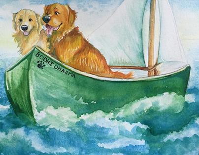 Bodhi in the Boat