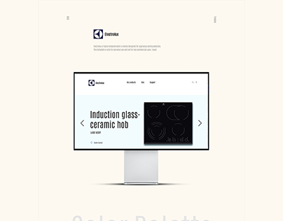 Online store Electrolux redesign