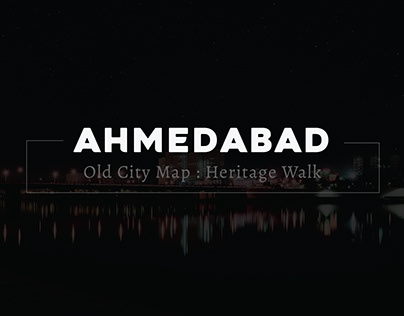 Ahmedabad : Graphics Old City Map