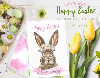 Watercolor Easter Bunny Creator