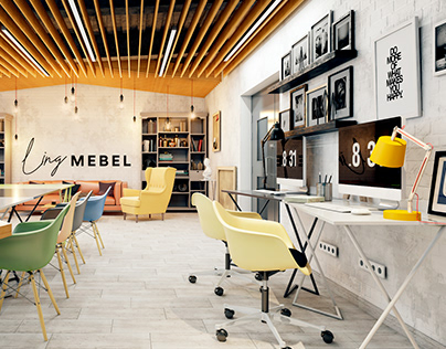Interior design of conference room for Ling Mebel