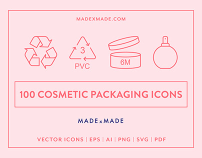 Line Icons – Cosmetic Packaging