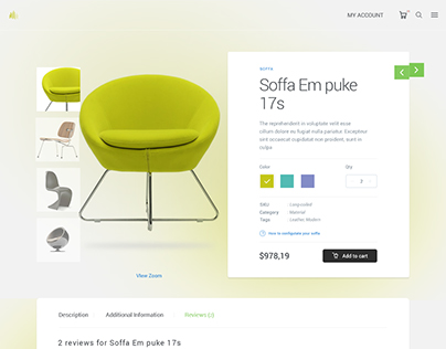Soffa Single Product