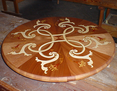 Baroque stylised inlaid table - design and making