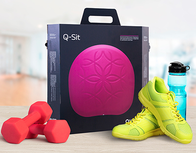 Сonstructive packaging for the Q-sit Balance Cushion