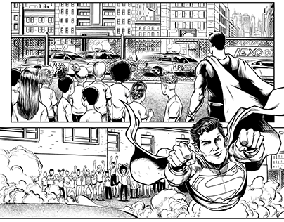SUPERMAN SAMPLE PAGES: PENCILS AND INKS