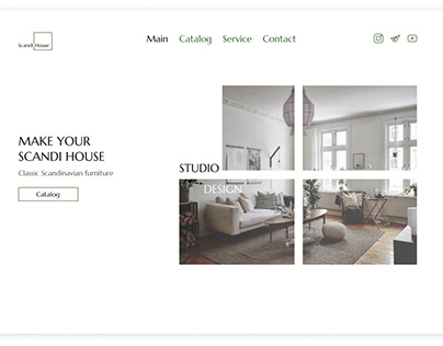 First screen for online store furniture