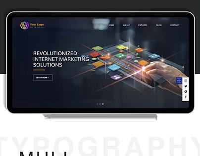 Internet Marketing Website Ui Design