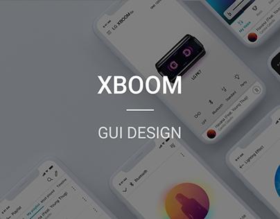 LG XBOOM APP GUI Design