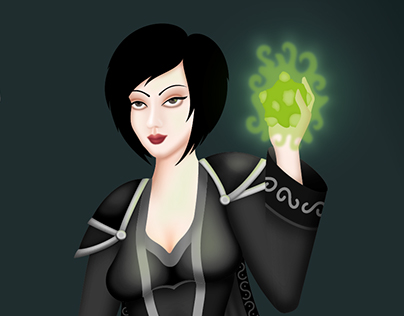 Marion, human warlock.