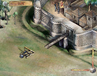 Medieval catapult game