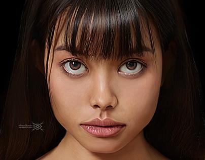 Digital Art – Cute asian