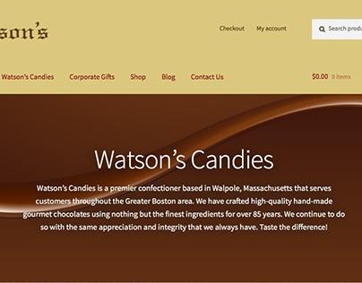 Watson's Candies Website