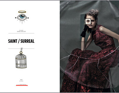 """Dior for Lampoon magazine project """"Saint/Surreal"""""""