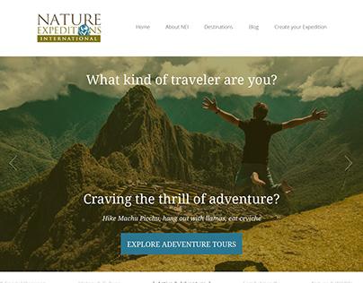 Nature Expeditions International Website Design