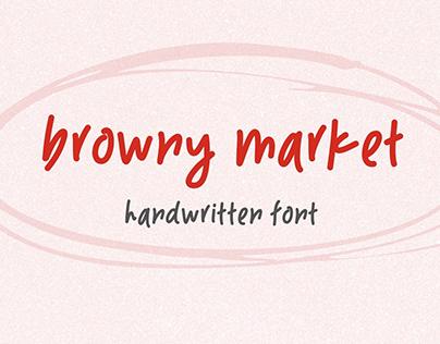 Handwritten Font, Serif Font, Browny Market