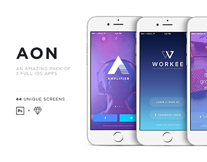 AON - a pack of 3 beautiful iOS apps
