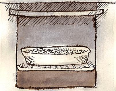 Ilustraciones para libro de cocina