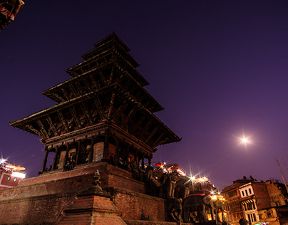 Nepal in twilight
