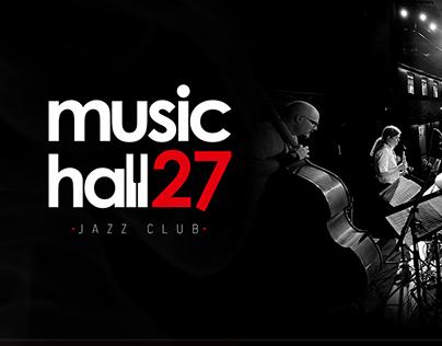 MusicHall27, jazz club website