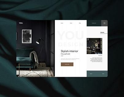 Вдохновение веб-дизайн. Stylish Interior