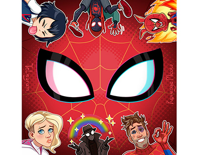 Into the Spide-Verse stickers for Telegram