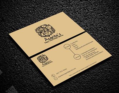 Asante's Business Card