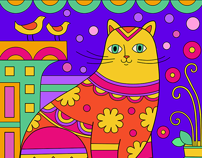 Cats (coloring pages for children)