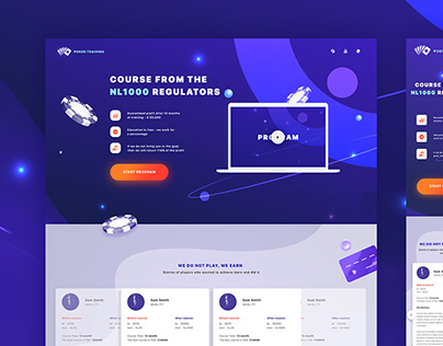 Two poker landing pages