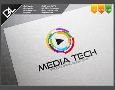 Media Tech Logo Template