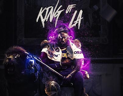 "LeBron James ""King of LA"" Original Artwork"
