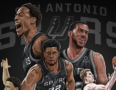 San Antonio Spurs- NBA Playoffs illustration