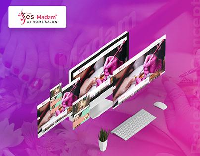 Yes Madam | New Website Layout Design