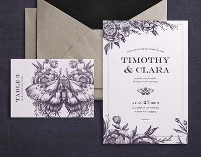 Timothy & Clara - Wedding Invitation