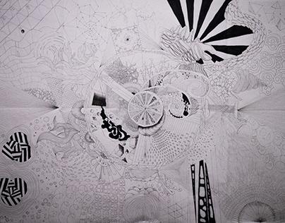 Doodle 100x140cm