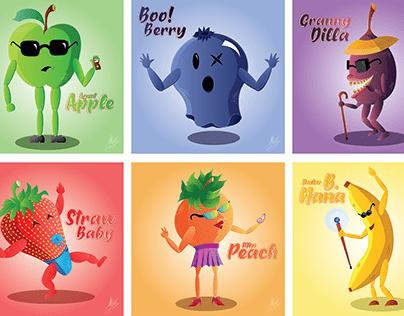 Fruity Folk Illustrations