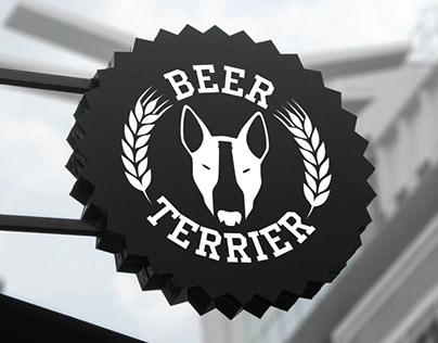 BEER TERRIER bar. Logo and identity.