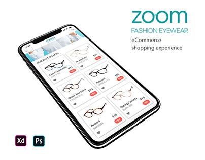 Zoom Fashion eyewear eCommerce Shopping Experience