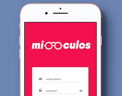 Logotipo - Miooculos. Aplicaçoes.